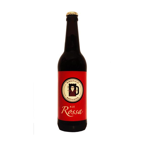 Birra rossa artigianale non pastorizzata non filtrata maturata in bottiglia