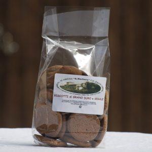 Biscotti di grano duro e segale front