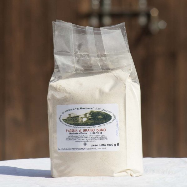 Farina di grano duro macinata a pietra