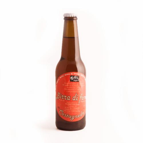 birra ambrata schiuma consistente